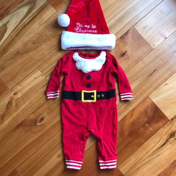 f5b2b3ced Baby's first Christmas outfit 3-6 months